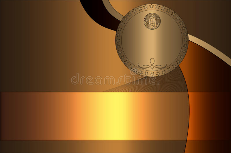 Creative golden background. royalty free stock image