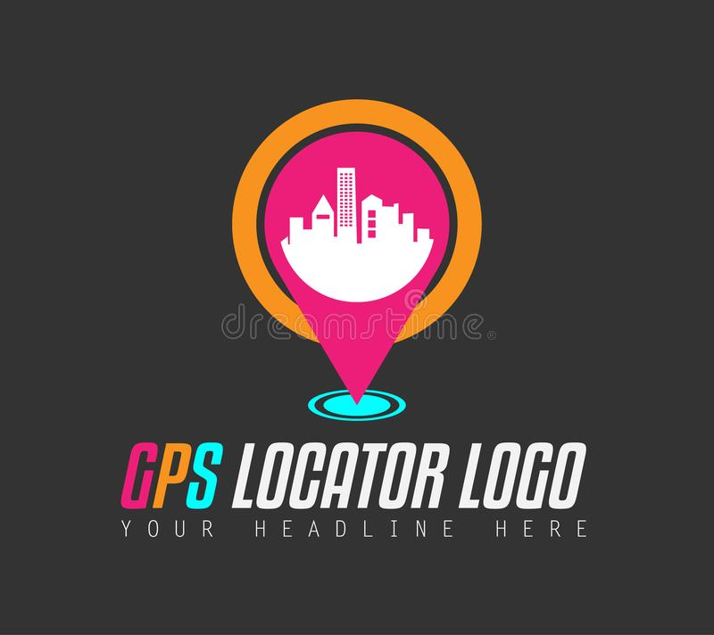 Creative GPS city locator Logo design for brand identity, company profile. Or corporate logos with clean elegant and modern style vector illustration