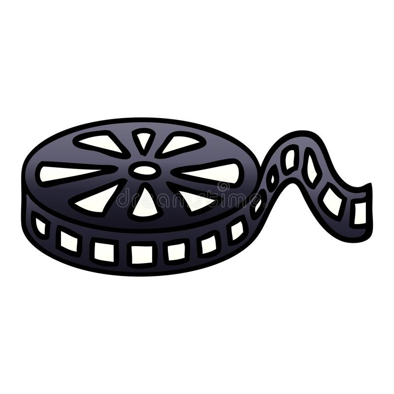 A creative gradient shaded cartoon film reel. An original creative gradient shaded cartoon film reel royalty free illustration