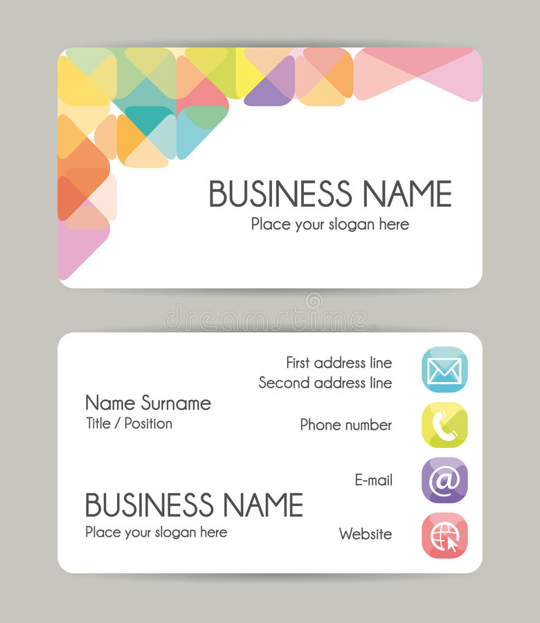 Creative Graphic Business Card Design. Front And Back. Stock Vector ...