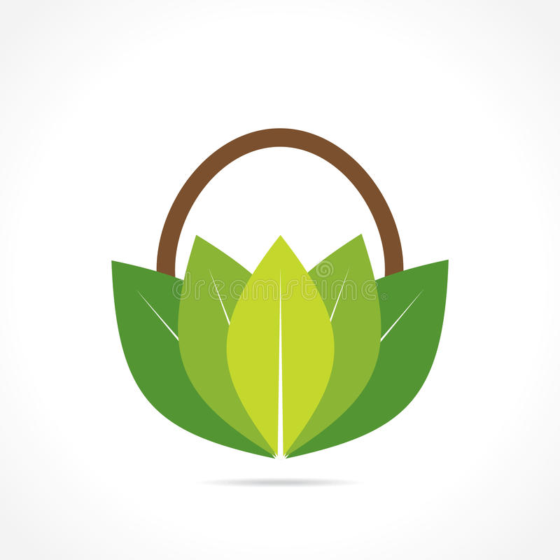 Free Creative Green Or Organic Basket Icon Royalty Free Stock Photography - 42930527