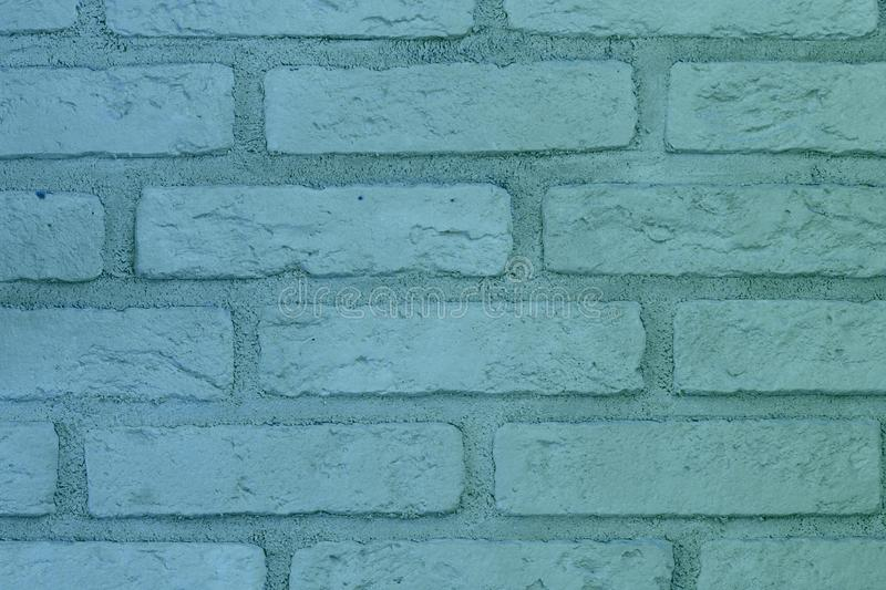 Creative grunge blue brick wall texture for design purposes royalty free stock image
