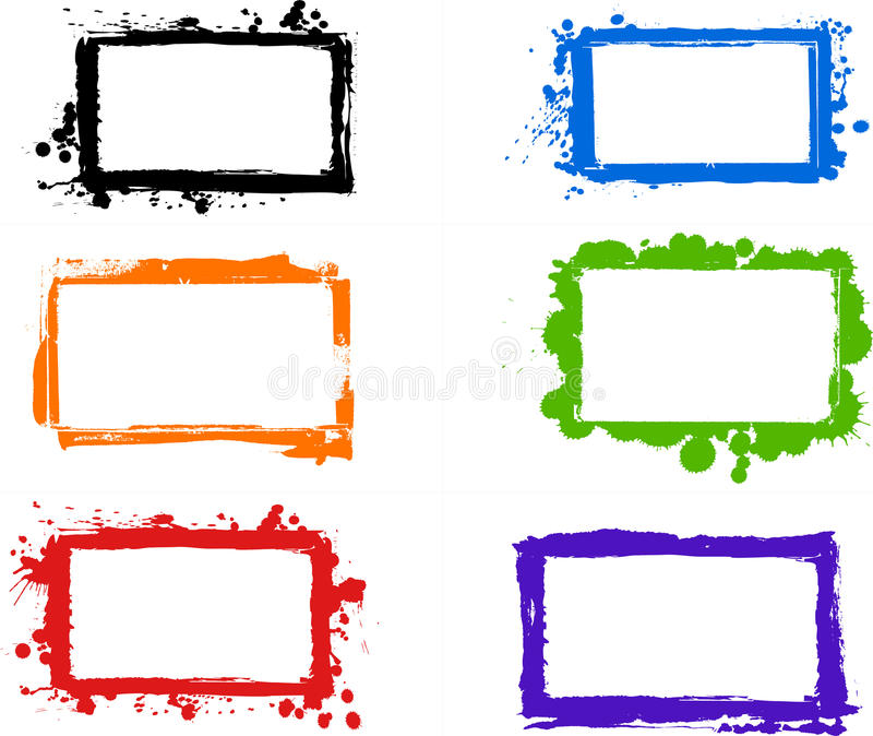 Creative grungy frames stock vector. Illustration of layout - 17886641