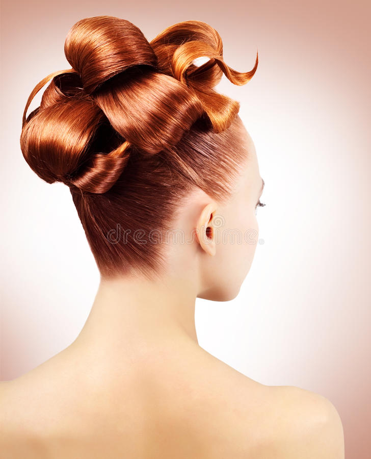 Download Creative hairstyle stock image. Image of fashion, hair - 26489885