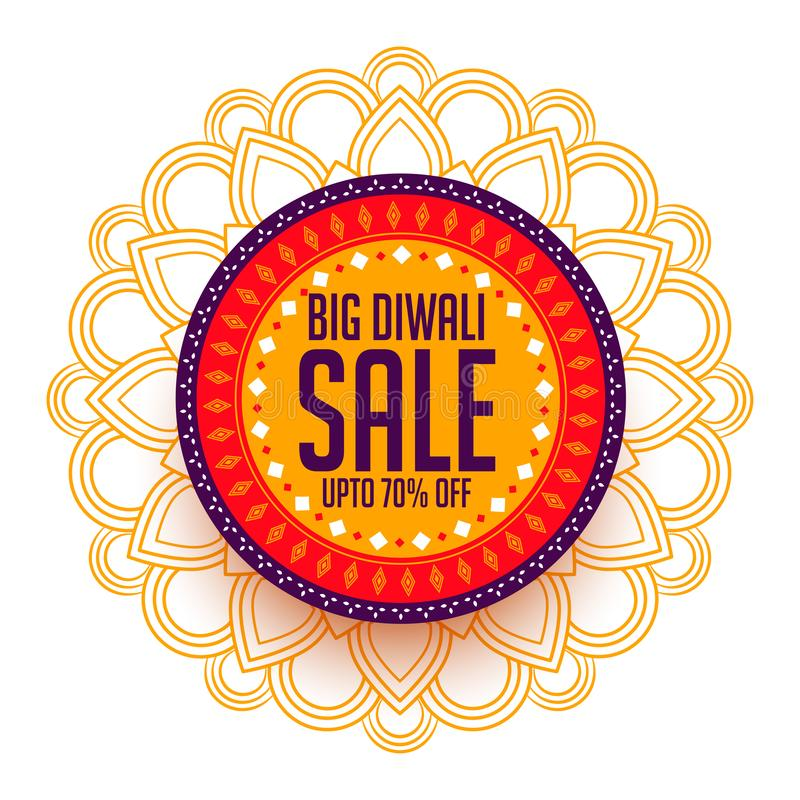 Creative happy diwali sale background for marketing. Vector royalty free illustration