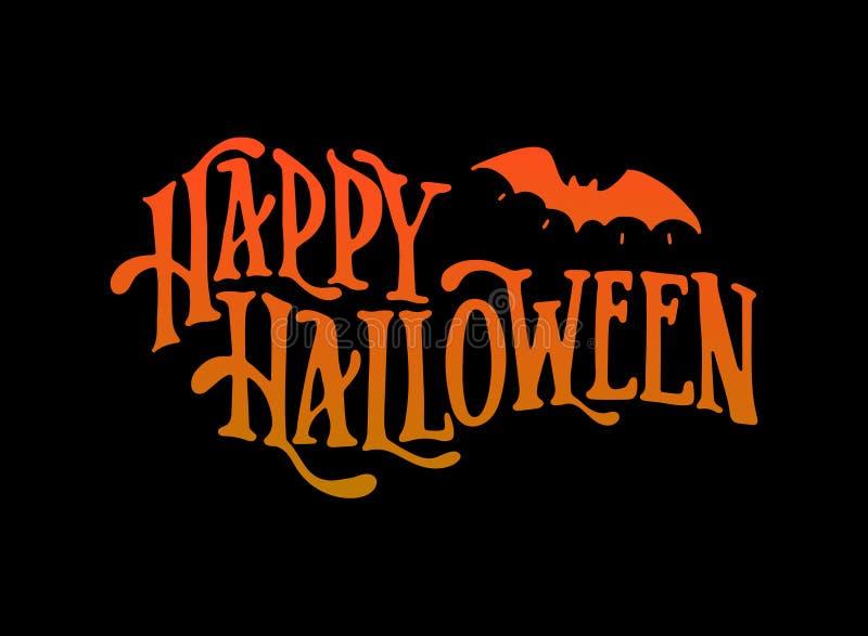 Creative Happy halloween greeting card, print, label, banner, poster design royalty free illustration