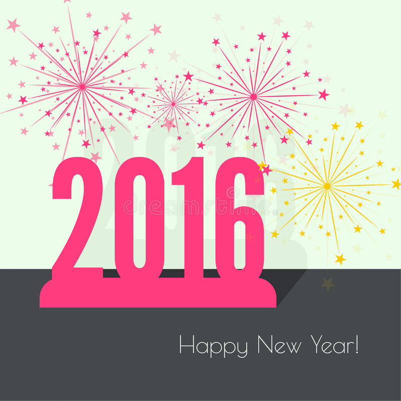 Creative happy new year vector illustration