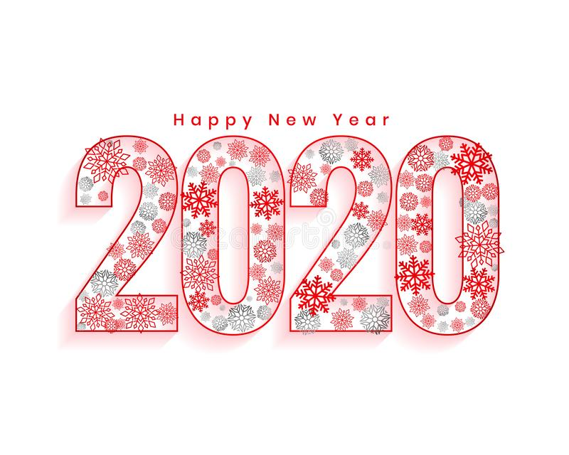 Creative 2020 happy new year christmas style background. Vector stock illustration