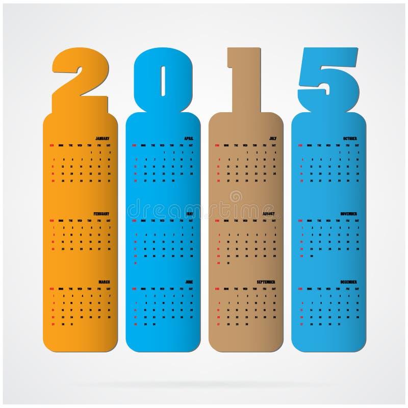 Creative happy new year 2015 text Design. Vector illustration royalty free illustration