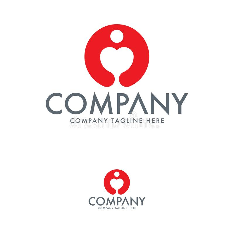 Creative Heart and Human Logo Template vector illustration