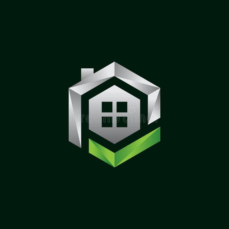 Creative hexagon Real Estate logo. Property and Construction Logo design Vector, colorful homes logo concept, hexagon house logo vector vector illustration