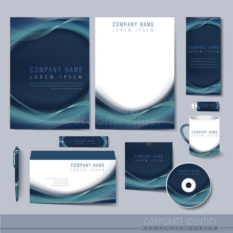 Creative hi-tech background for corporate identity stock illustration