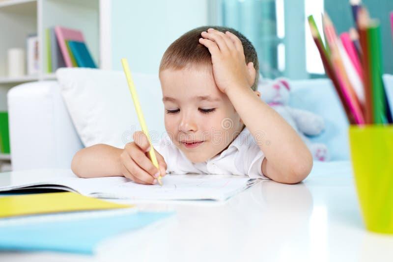 Creative homework royalty free stock image