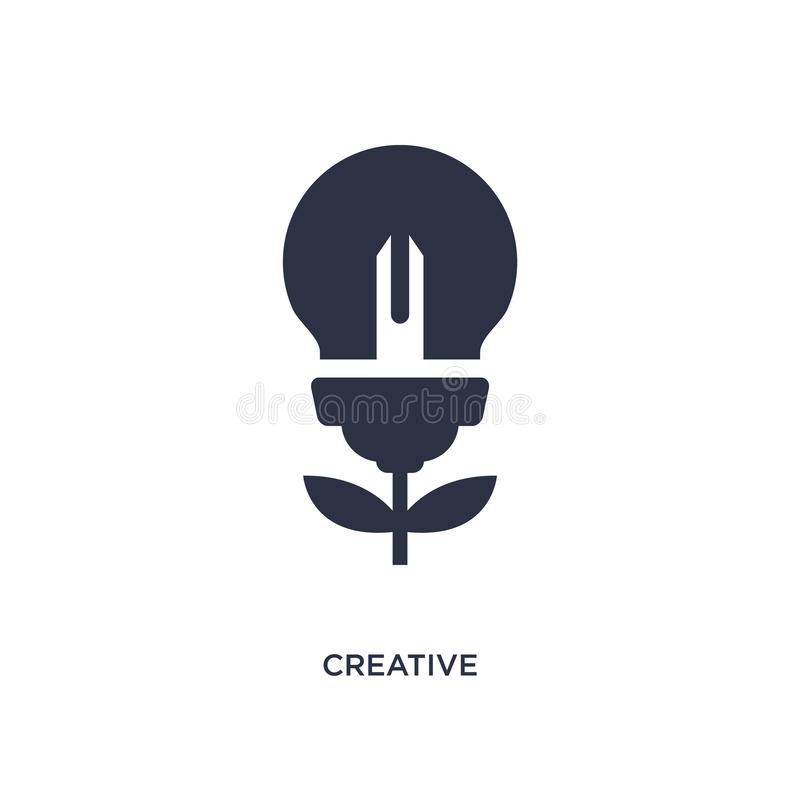 Creative icon on white background. Simple element illustration from creative pocess concept. Creative isolated icon. Simple element illustration from creative royalty free illustration