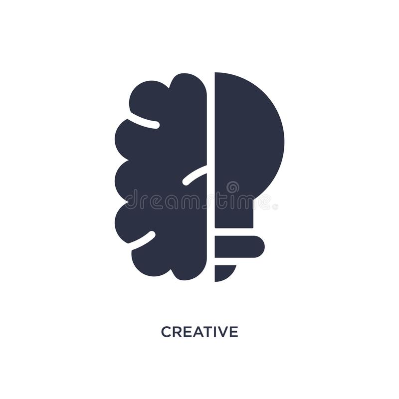 Creative icon on white background. Simple element illustration from strategy concept. Creative isolated icon. Simple element illustration from strategy concept vector illustration