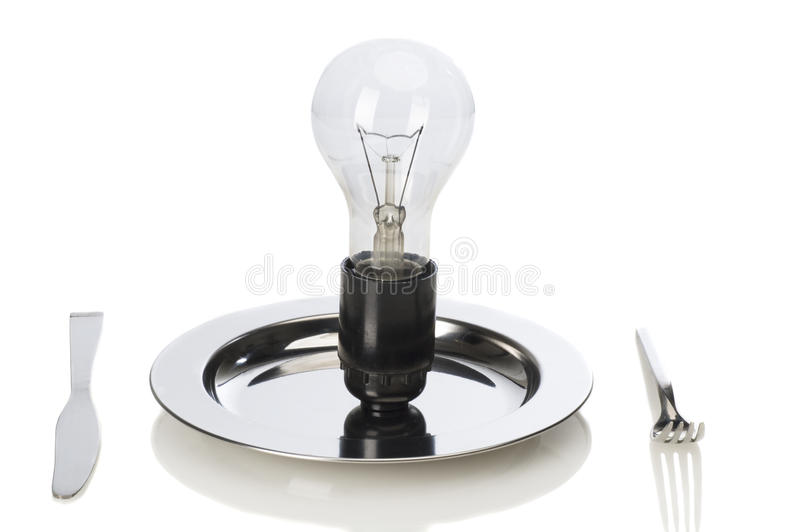 Creative idea. With lamp, as a food royalty free stock images