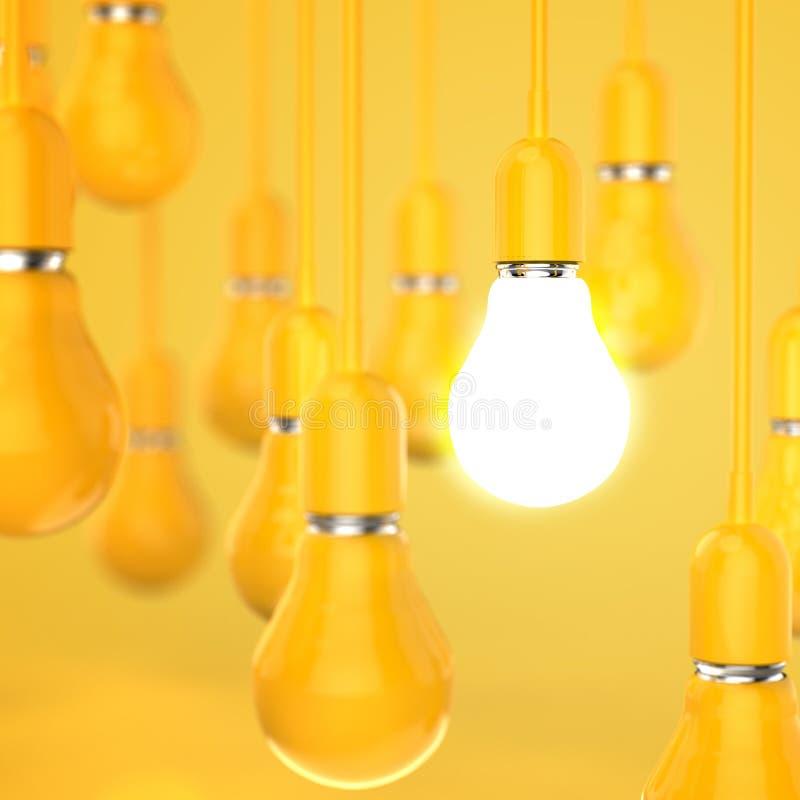 Free Creative Idea And Leadership Concept Light Bulb 3d Design Stock Photos - 30561533