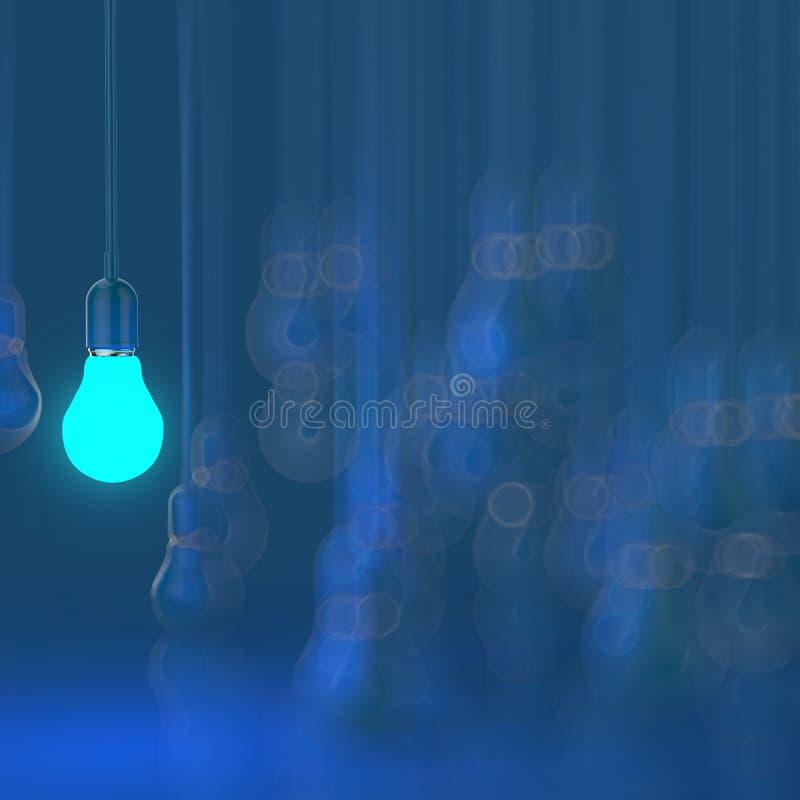 Creative idea and leadership concept light bulb. On grey background stock photos