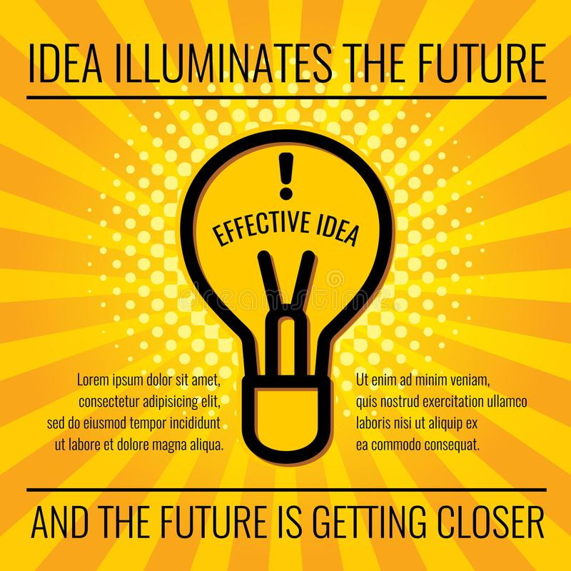 Creative idea vector business concept background stock illustration