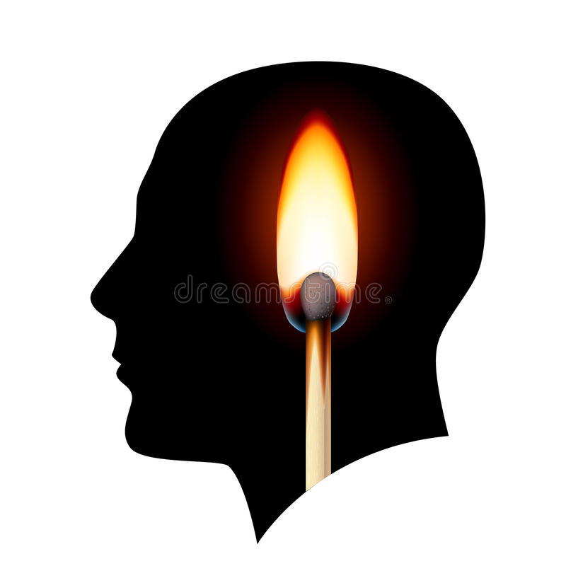 Download Creative Ideas Burning Match Stock Vector - Image: 28782996