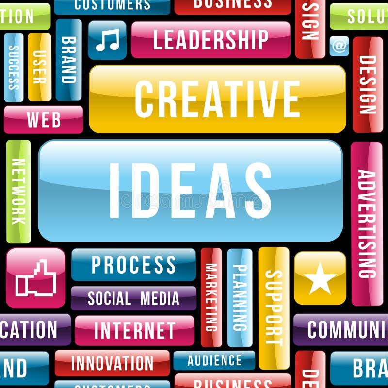 Creative ideas concept pattern royalty free illustration