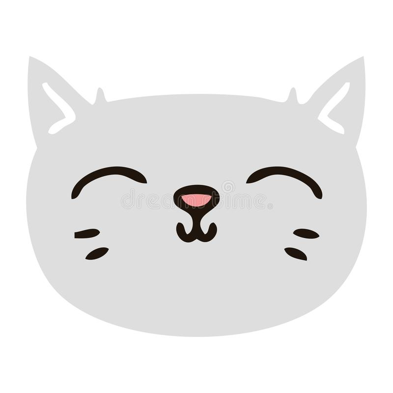 Cat Kitten Pussy Face Pet Animal Cute Cartoon Character Doodle Drawing Illustration Art Artwork Funny Crazy Quirky Flat Color Retro Stock Illustrations 2 Cat Kitten Pussy Face Pet Animal Cute Cartoon