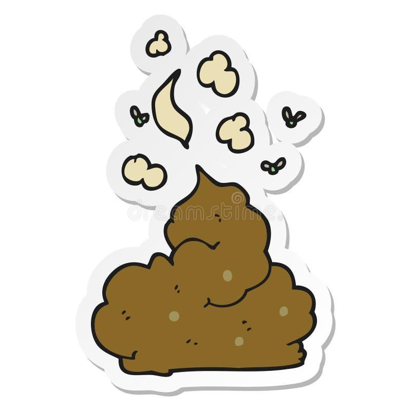 sticker of a cartoon gross poop vector illustration