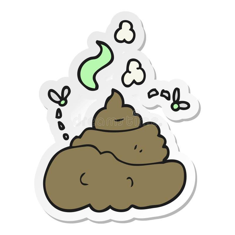 sticker of a cartoon gross poop stock illustration