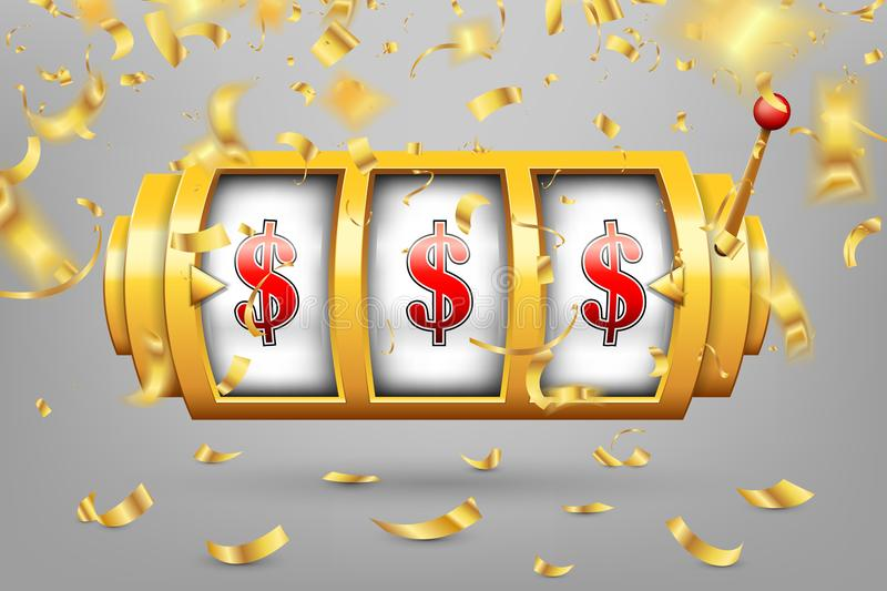 Creative illustration of 3d gambling reel, casino slot machine isolated on transparent background. Art design. Concept abst. Ract graphic element - one arm vector illustration