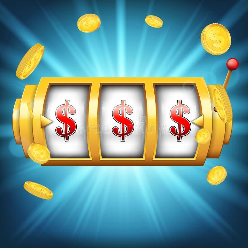 Creative illustration of 3d gambling reel, casino slot machine on transparent background. Art design. Concept abst royalty free illustration