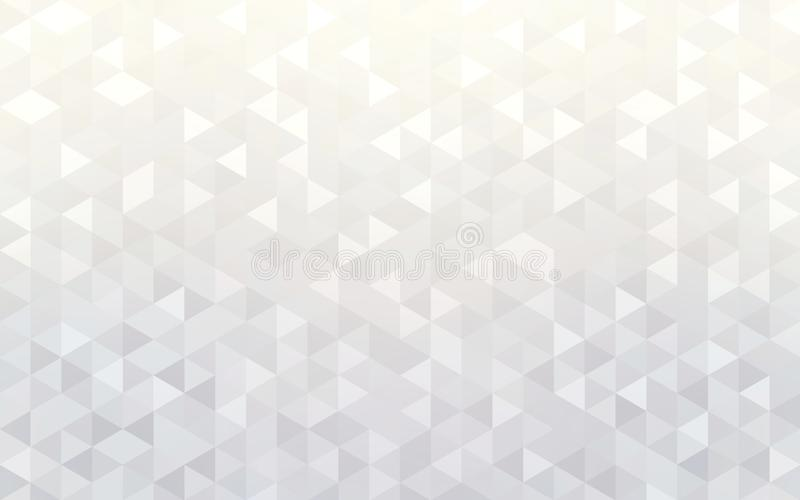 White brilliance triangles pattern. Background geometric mosaic. Abstract trend wallpaper. Creative illustration for design. Trend graphic vector illustration