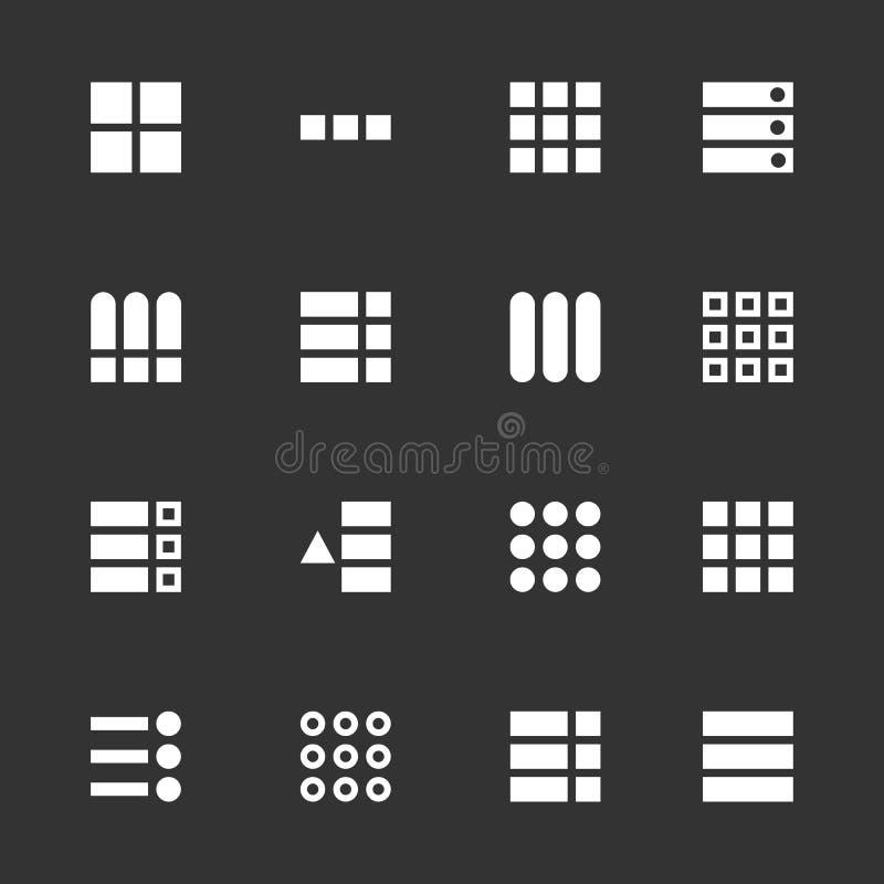 Creative illustration of hamburger UI, UX menu user interface navigation icons isolated on background. Art design web navigation. Interface button controls vector illustration