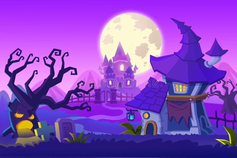 Creative Illustration and Innovative Art: Ghost Town. vector illustration