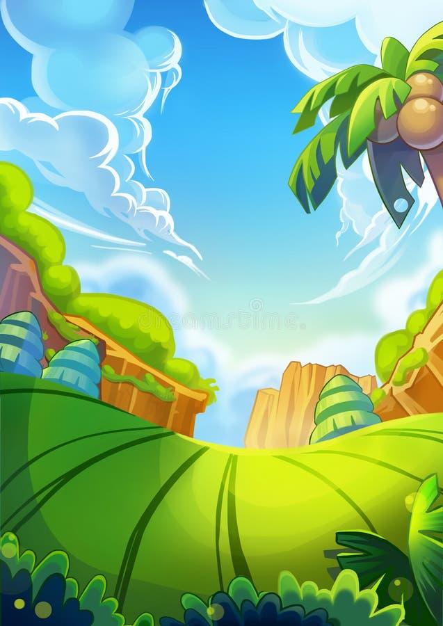 Creative Illustration and Innovative Art: Nature Background Portrait 1. stock illustration