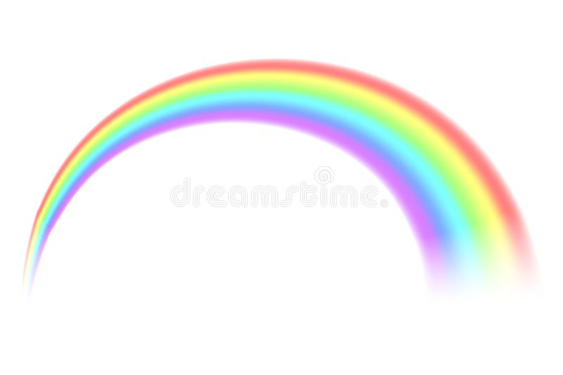 Creative illustration of rainbows in different shape isolated on background. Fantasy art design. Spectrum pattern. Abstract royalty free illustration