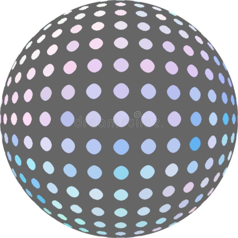 Gray mosaic ball 3d graphic. vector illustration