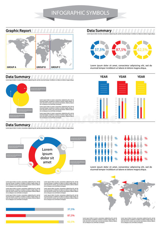 accident statistics template - creative info graphic with human figurines and statistic