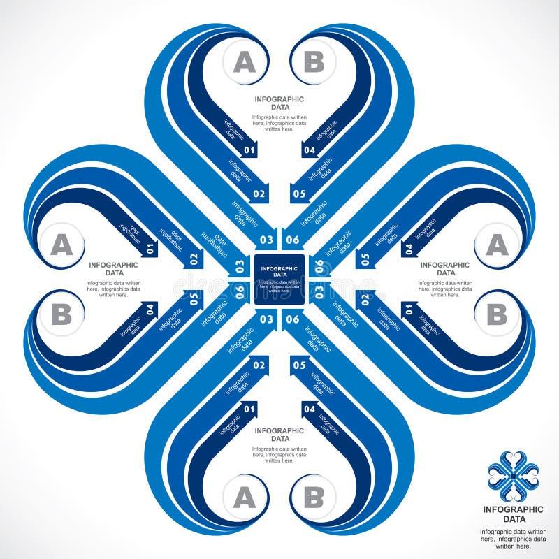 Creative infographic design. Creative blue arrow infographics design stock vector royalty free illustration