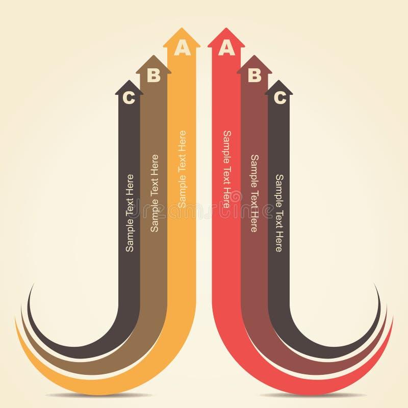 Creative infographic design. Creative retro arrow infographics design stock stock illustration