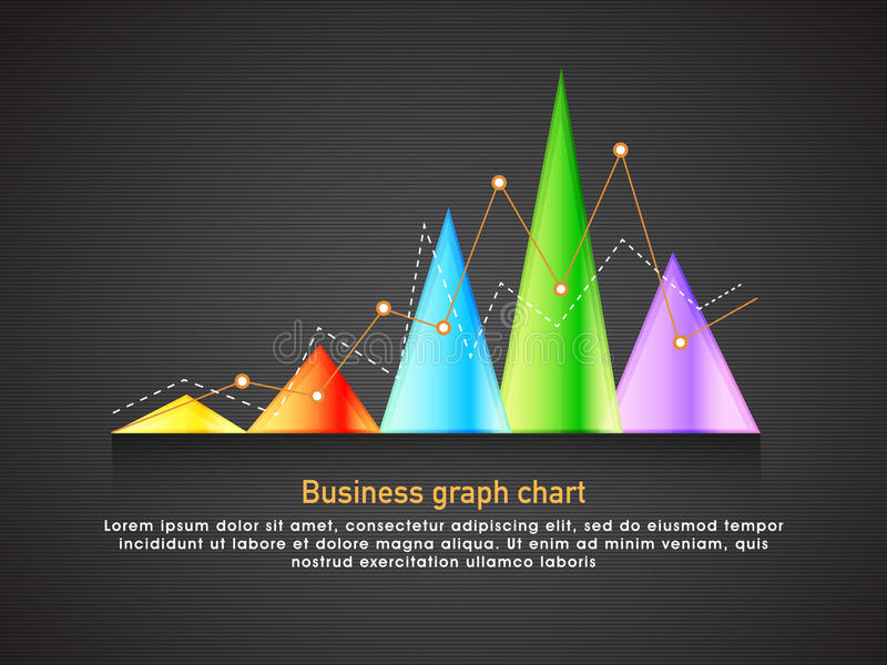 Creative infographic element for Business. Creative infographic element including colorful statistical graph on grey background for your Business presentation stock illustration