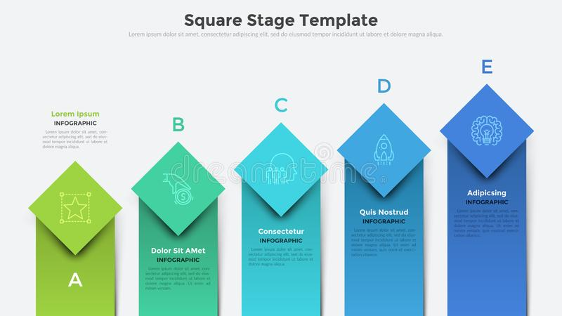 Creative Infographic Template royalty free illustration