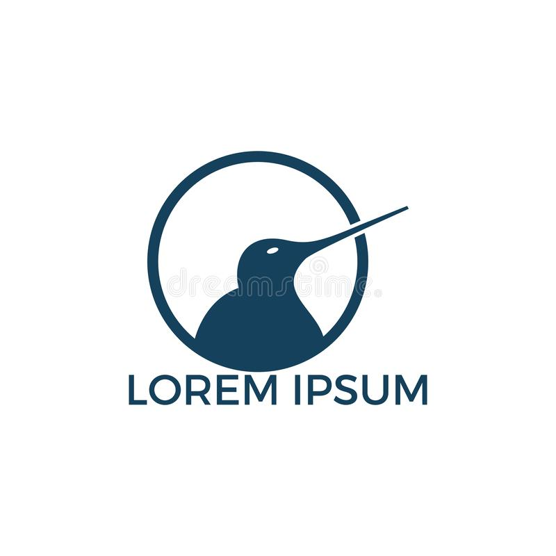 Kiwi bird vector logo design. Creative kiwi bird vector logo design template royalty free illustration