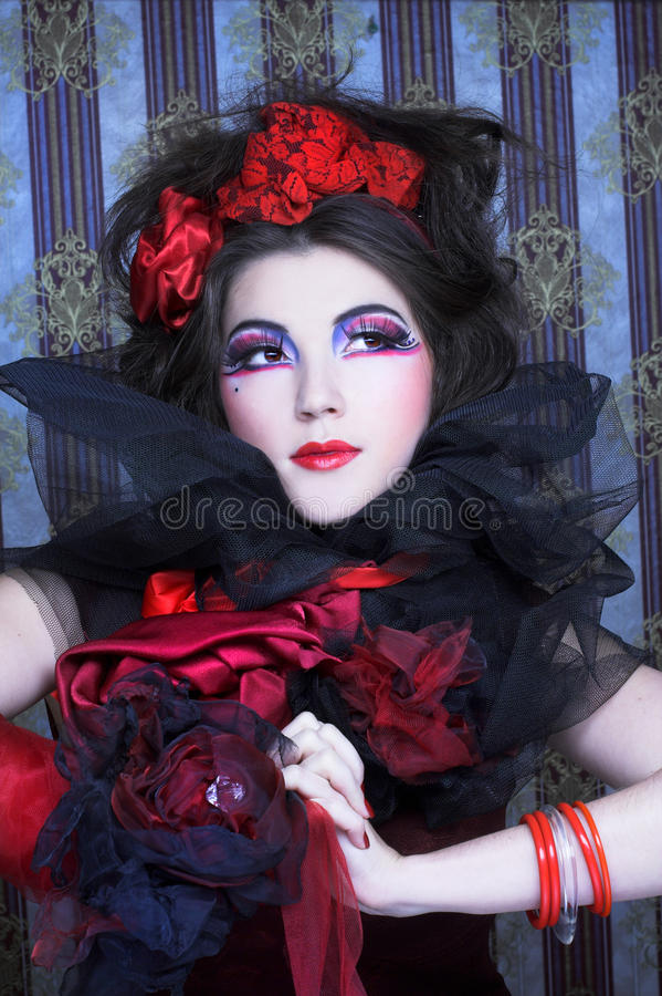 Download Creative lady. stock photo. Image of eyeshades, face - 32439096