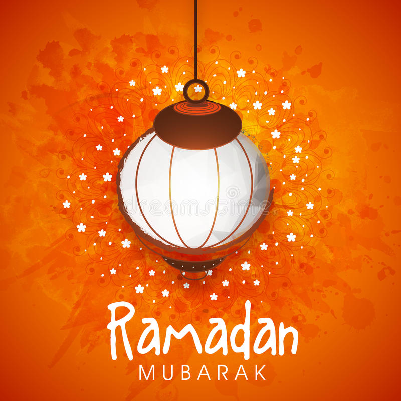 Creative lantern for Ramadan Mubarak celebration. stock illustration