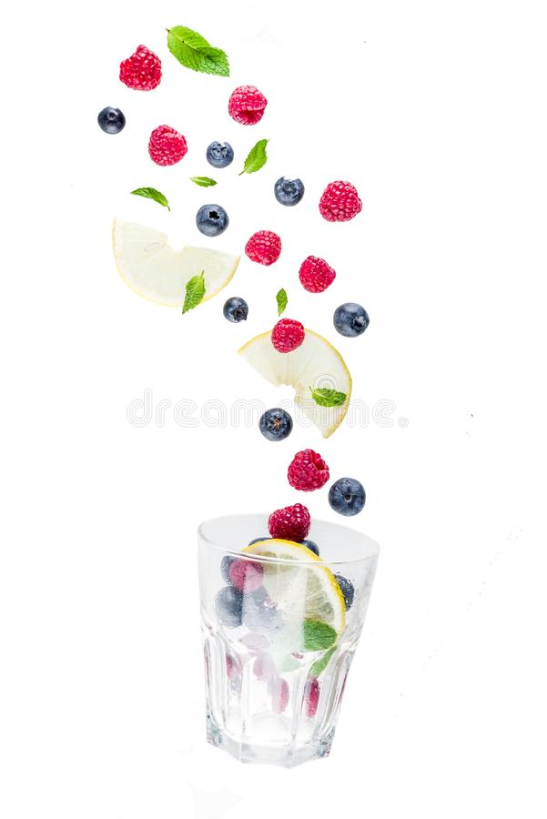 Free Creative Layout With Fresh Berries Stock Images - 118868334