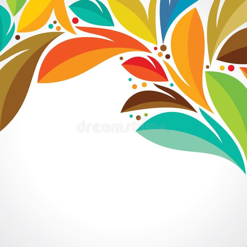 Creative leaf design on white background royalty free illustration