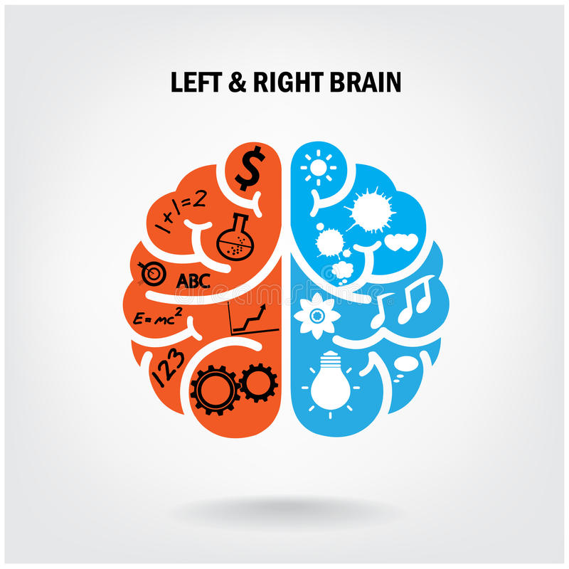 Creative left brain and right brain royalty free illustration