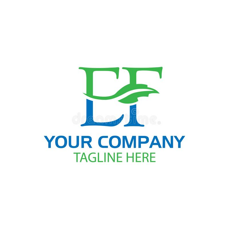 Creative Letter E and F logo Design. Nature Logo Template. EPS file available. see more images related royalty free illustration