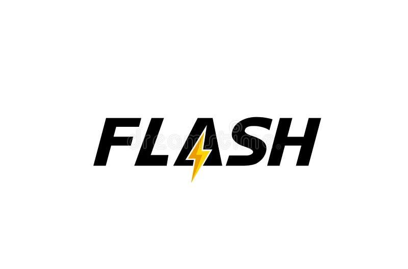 Creative Letter Flash Text Symbol Design Illustration. Creative Letter Flash Bolt Logo Text Symbol Design Illustration royalty free illustration