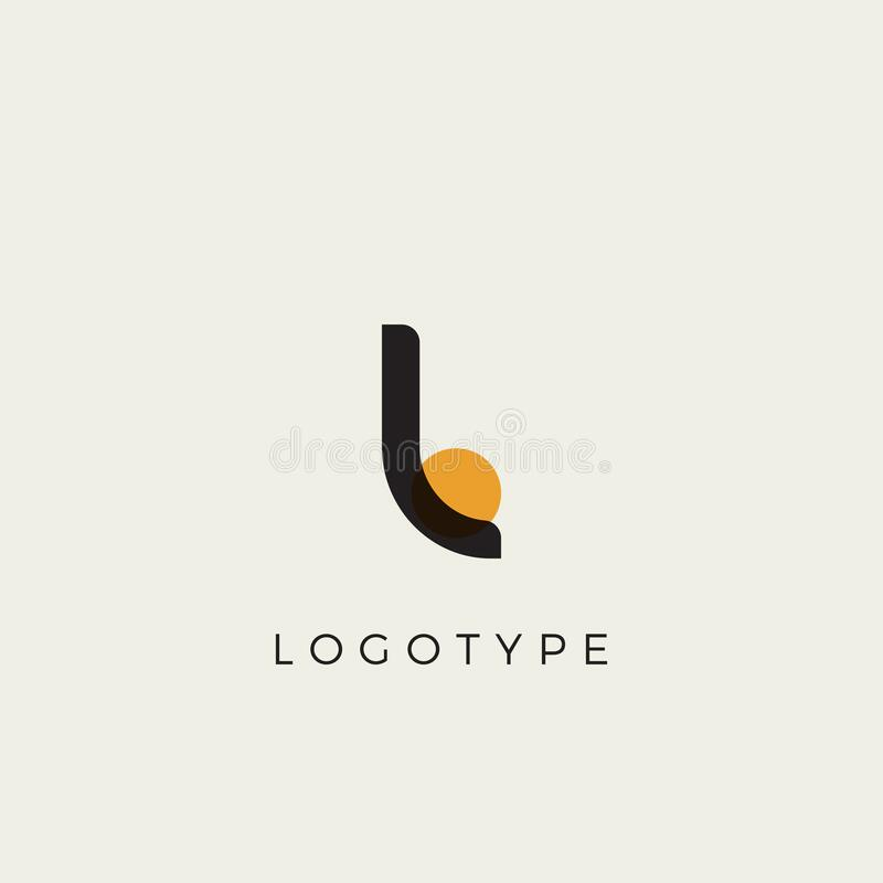 Free Creative Letter L For Logo And Monogram. Minimal Artistic Style Letter With Yellow Spot For Education, Festive And Party Stock Photography - 208703272